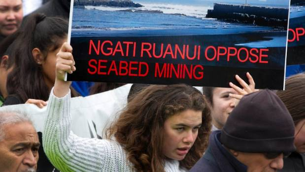 Ngati Ruanui protested against Trans-Tasman Resources' bid for marine consent to mine the seabed for iron sand. More ...