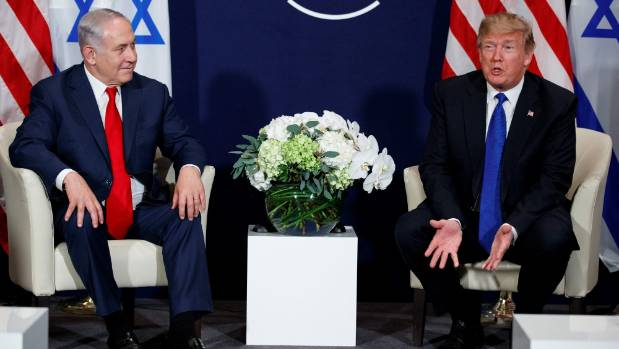 Joe Bennett: President Donald Trump, right, and Israeli Prime Minister Benjamin Netanyahu at the World Economic Forum in Davos — men, money and power. — Photograph: Associated Press.