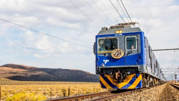 The Blue Train travels between Cape Town and Pretoria.