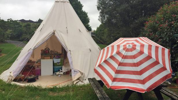 Syreeta Hewson is living in this teepee after struggling to find a rental in Kerikeri. : teepee tent nz - memphite.com