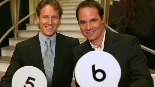 Brendan Cole with fellow Dancing With the Stars judge Paul Mercurio in 2005