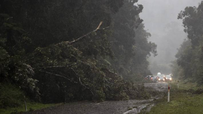 In February 2018, torrential rain and high winds brought down trees, which blocked State Highway 6 north of Franz Josef.
