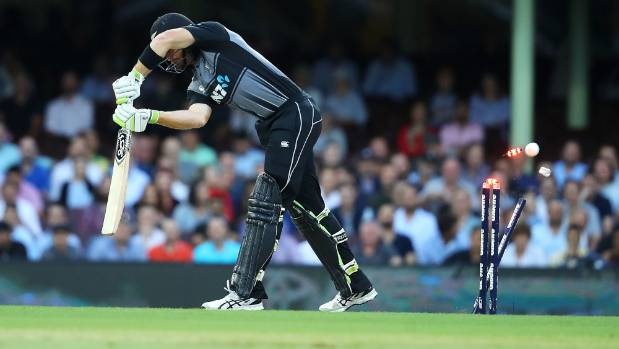 Taylor can't repeat Guptill's reaction to Stanlake thunderbolt
