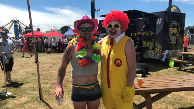 Brothers Luke left and Jamie Wenman travelled to Hamilton from Palmerston North for Luke's sevens stag