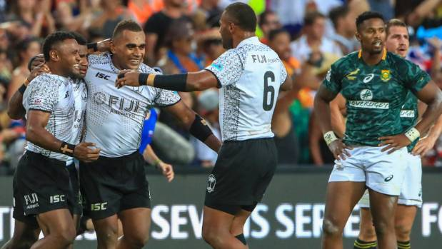Fiji celebrate at the final whistle