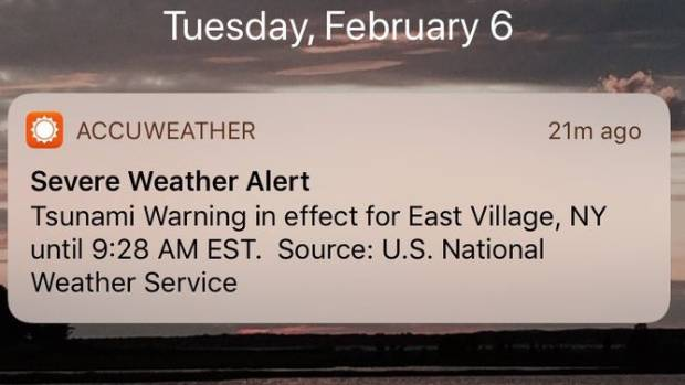 AccuWeather Blames National Weather Service for False Alarm Tsunami Warning