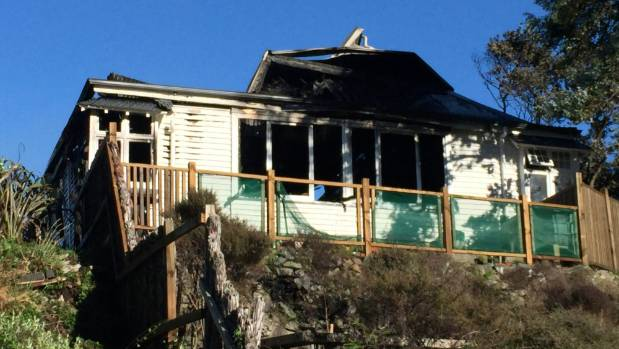 The rimu weatherboard home, built in the early 1900s, destroyed by fire in Paekākāriki.