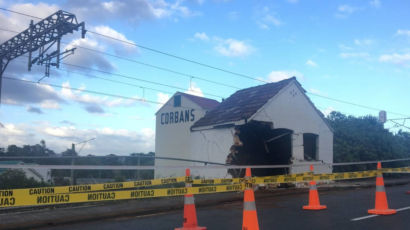 Historic West Auckland Building Badly Damaged By Car