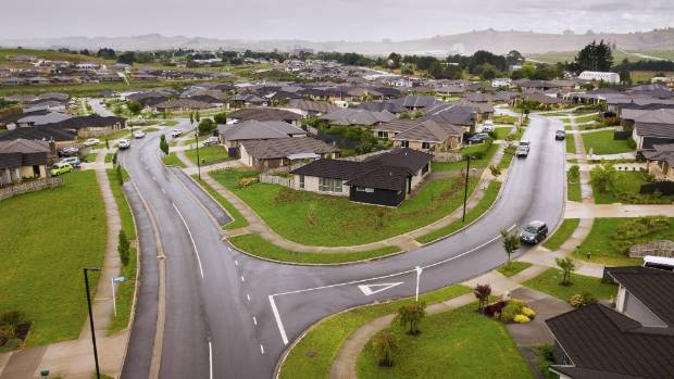 One of Pokeno's newly completed suburbs.