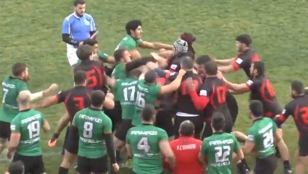 საქართველოს ნაკრების მორაგბეებმა რუსეთის ნაკრების მოთამაშეები საშინლად სცემეს (ვიდეო)