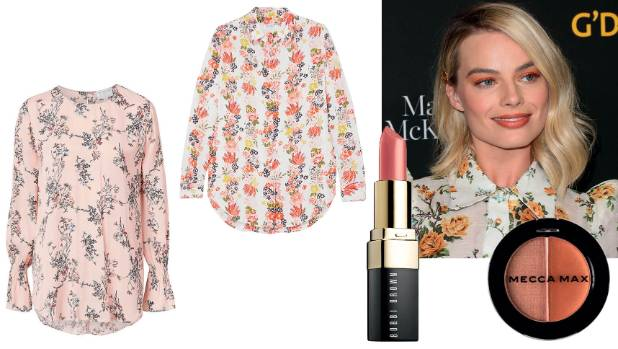 Feeling peachy: Witchery blouse, $140; Equipment Essential shirt, $509 at Net-a- Porter; Bobbi Brown lip colour in ...