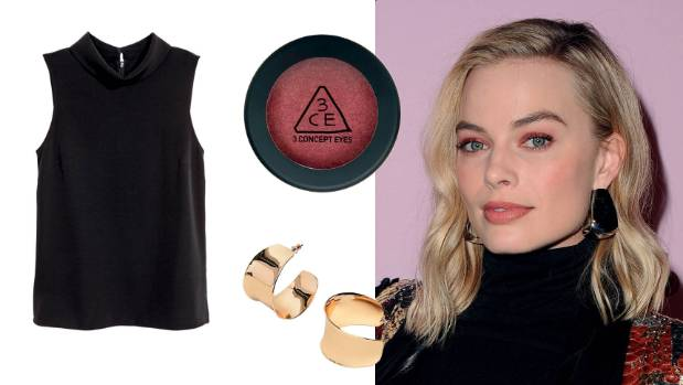 Make a statement: H&M sleeveless top, $30; 3CE One Colour Shimmer Shadow eyeshadow in Saturn, $19 at Sephora.co.nz; and ...