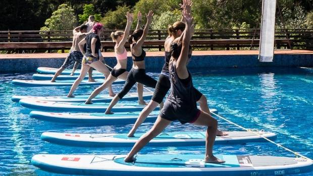 Paddle board yoga is just one of the many types on offer at the festival.