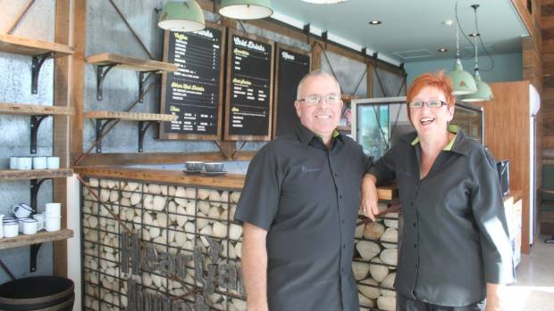 FreshChoice Cromwell owner operators Ross and Sue Clark inside their new cafe, Heartland Junction.