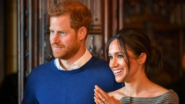 Meghan Markle laughs as Shetland pony bites Prince Harry on Edinburgh trip