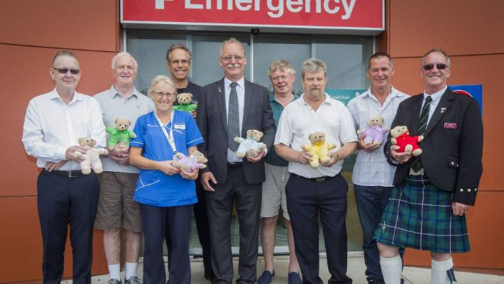 TLC Appeal trust members with teddy bears that will gifted to children who are distressed at Taranaki Base Hospital.