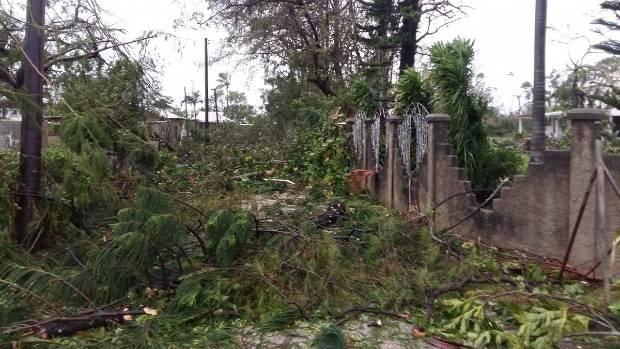 Tonga Parliament building flattened by cyclone Gita