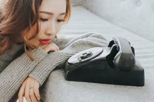 A recent phone sex snafu has left her reluctant to be intimate with her long-distance lover. (Stock photo)