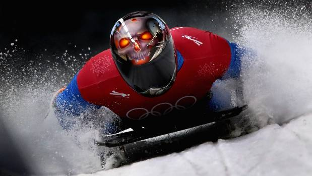 American Emily Sweeney walks away after scary Olympic luge crash