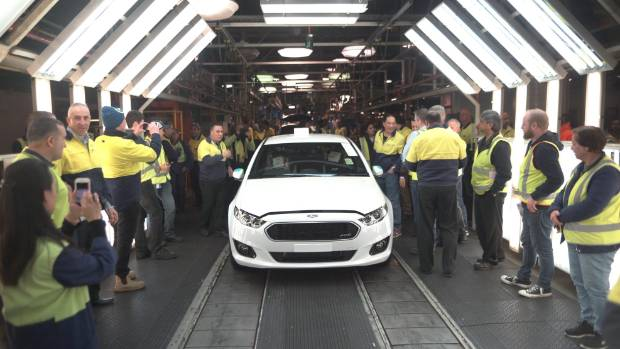 The last Ford ute to roll off the Australian assembly line was this white XR6 Turbo, built in June 2016.