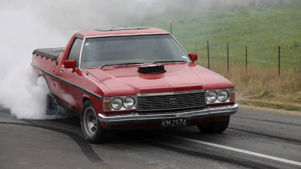 What could you do with an Aussie ute? Plenty, as illustrated by the action involving this Holden Kingswood.