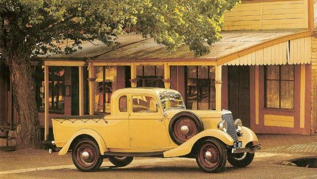 Where it all began. The original Ford coupe-utility, built off the Model 40 coupe, which blended the coupe's enclosed cabin with a steel-panelled load area at the rear.