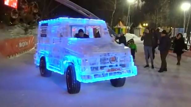 Russian Car Tuners Make Cool Driveable Car Out Of Ice Stuff - Cool cars auckland