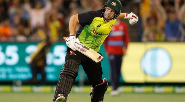 Kane Richardson speaks following Australia's five-wicket win against New Zealand