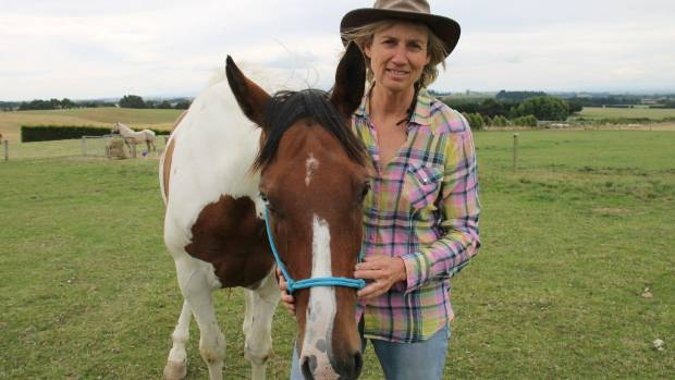 Otago Goldfields Heritage Trust Cavalcade trail boss Jane Whitmore, of south Otago, and her horse Kahlua.