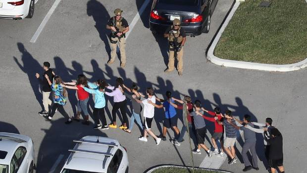 Clear plastic backpacks now being used at site of Florida school shooting