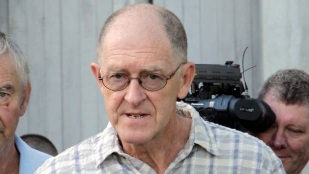 Bernard McGrath outside the Christchurch Courthouse before being extradited in 2014.