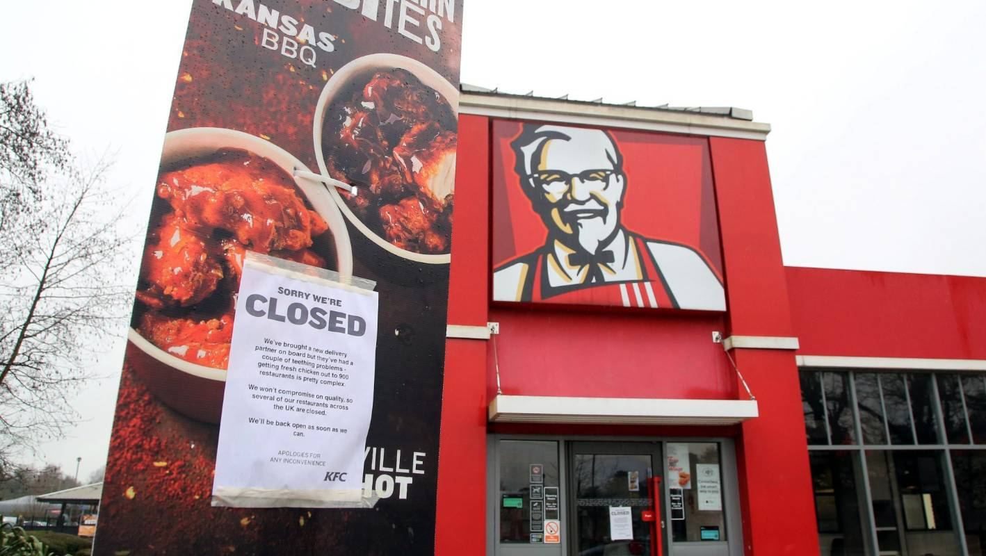 KFC's Cheeky Apology About Running Out Of Chicken Goes