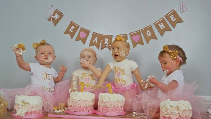 The Baker Spent 100 Hours Crafting Life Size Cakes That Resembled Her Little Girls