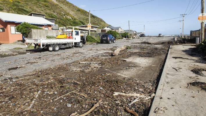 Ex-Cyclone Gita left Makara residents with a large clean up job after flooding homes and destroying property on Wednesday.