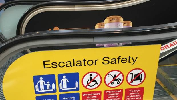 'He was screaming.' Toddler's boot caught in airport escalator, mom says