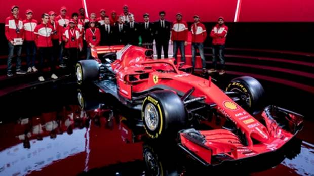 Ferrari launches new F1 vehicle  for 2018 season