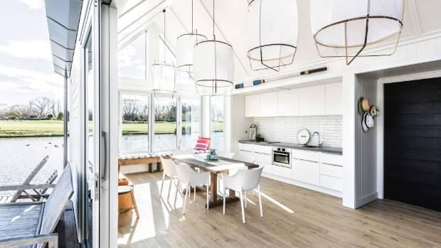 Design Ay Illuminate : All aboard: tiny boathouse gets a stylish kitchen stuff.co.nz