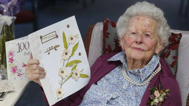 Centenarian Gwyneth Evans celebrates 100 years of good living