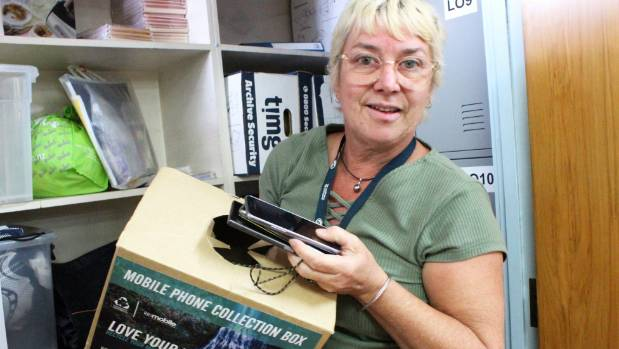 Mobile phones are just some of the left-behind items NZ Bus duty supervisor Jo Anderson and her team deal with.