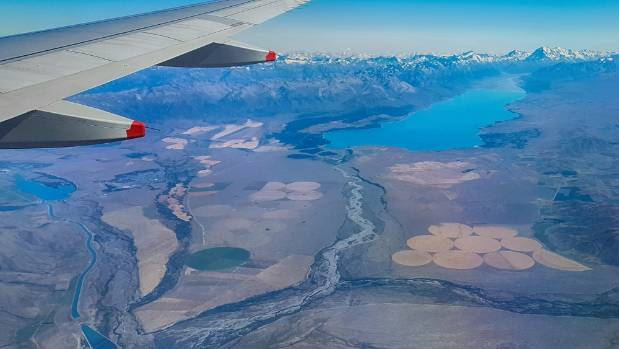 Mackenzie Country below Lake Pukaki with ongoing irrigation development.
