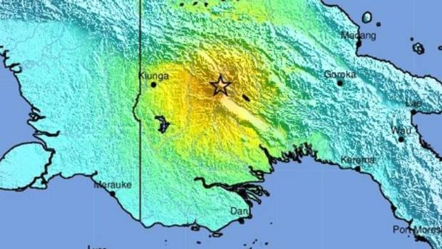 The quake, which struck at 6.44am (NZT) was centred 89km south-southwest of Porgera, at a depth of 35km.