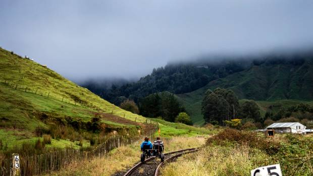 A rail bike tourism venture had replaced locomotives on the Stratford Taumarunui line.