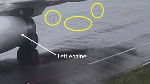 Clipboard in engine forces flight to turn back
