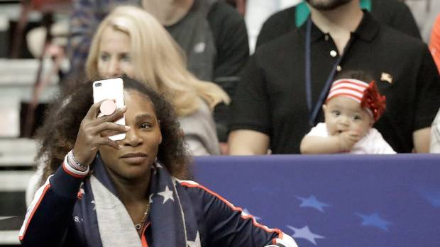 Serena Williams' husband surprises her with billboards of daughter