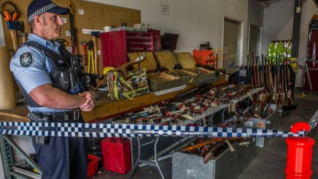 Australia's National Firearms Amnesty haul in ACT.
