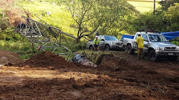 The broken main water supply pipe near Hydro Rd, north of New Plymouth was an asbestos cement pipe, but the health risk ...