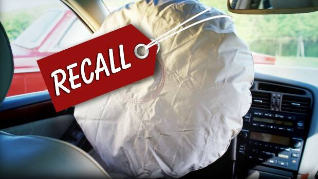 NZ vehicles affected in airbag recall