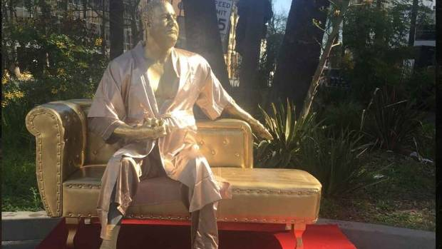 Harvey Weinstein Casting Couch Statue Debuts On Hollywood Boulevard Pre-Oscars -1028