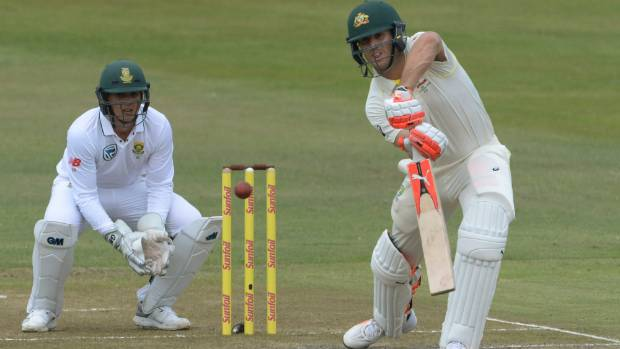 Mitchell Marsh was dismissed for 96 as Australia reached 351 in their first innings of the first test in Durban