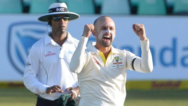 Nathan Lyon fined following AB de Villiers run out